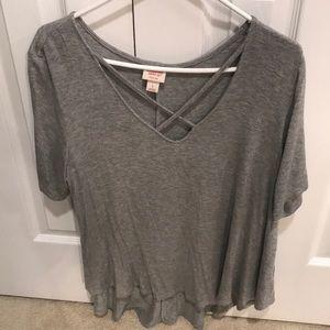 Target Mossimo Gray tshirt